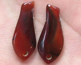 A PAIR OF AGATE STONE  GR 1201