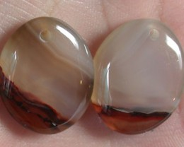 FREE SHIPPING A PAIR OF AGATE STONE  GR 1225