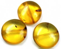 NATURAL AMBER BEADS 28.60CTS A226