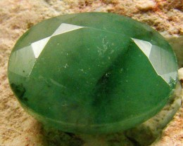 CERTIFIED BEAUTIFUL FACETED EMERALD   4.19CTS  0571