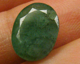 CERTIFIED BEAUTIFUL FACETED EMERALD   2.89CTS  0575