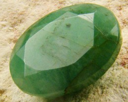 CERTIFIED BEAUTIFUL FACETED EMERALD  3.61 CTS  0535