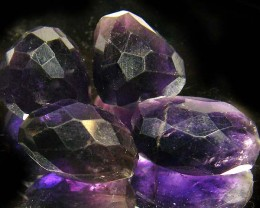 PARCEL AMETHYST FACETED BEADS  55 CTS ST 876