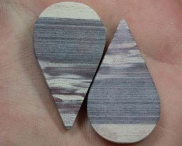 PAIR OF ZEBRA ROCK STONES  52.5CTS  G1299
