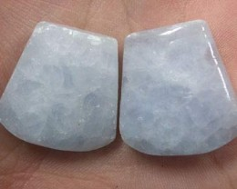 PAIR OF CHARCHYDNONY 38.4CTS G1755
