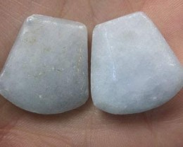 PAIR OF CHARCHYDNONY  38.40 CARATS  G1757