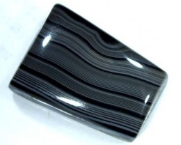 BLACK AND WHITE BANDED AGATE 15 CTS  NP-879