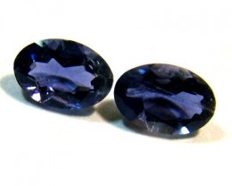 IOLITE FACETED STONE (PAIR) 0.60 CTS  PG - 655