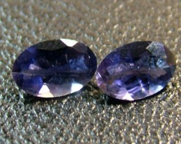 IOLITE FACETED STONE (PAIR) 0.65 CTS  CG - 656