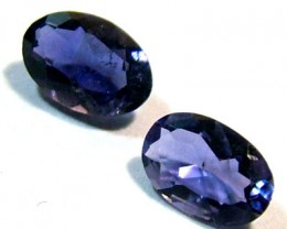 IOLITE FACETED STONE (PAIR) 0.65 CTS  PG - 659