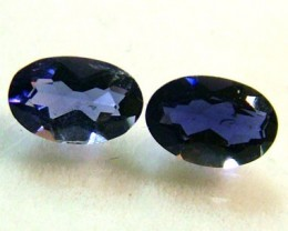 IOLITE FACETED STONE (PAIR) 0.70 CTS  PG - 658
