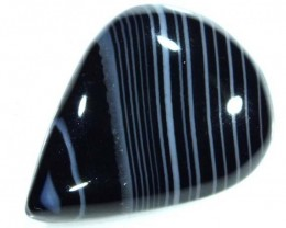 BLACK AND WHITE BANDED AGATE 15 CTS  NP-875