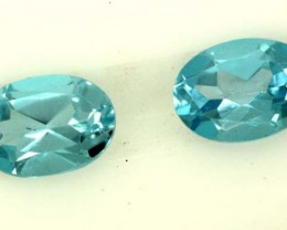 BLUE TOPAZ NATURAL FACETED (2 PC) 1.85 CTS   PG-1070