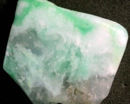 CHRYSOPRASE SLAB -POLISHED  -DRILLED 51.95 CTS  [MX 7341 ]