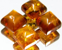 BALTIC AMBER PARCEL 2.30 CARAT WEIGHT 4 PC. SQUARE CABOCHONS