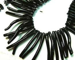 NATURAL BLACK CORAL NECKLACE 180 CTS AS5802