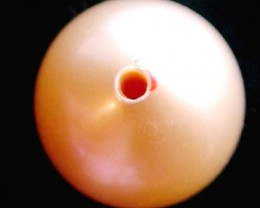 SHORT RICE PEARL 9.5 MM -HIGH LUSTER- DRILLED 6.5CTS[PF622 ]