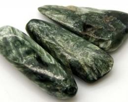 GREEN SERAPHINITE 40 CTS ADG-358