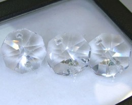 QUARTZ BEADS FACETED,DRILLED (6PC) 14.80CTS NP-1491