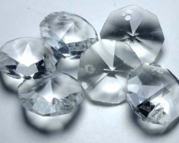 QUARTZ BEADS FACETED,DRILLED (6PC) 41.25CTS NP-1500