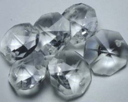 QUARTZ BEADS FACETED,DRILLED (6PC) 41.45CTS NP-1494