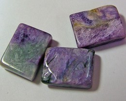 Charoite  3 piece parcel  46.85 cts   AS 5764