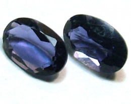 IOLITE FACETED STONE (PAIR) 0.70 CTS FP-845 (PG-GR)