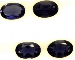 IOLITE FACETED STONE (2 PAIR) 1.50 CTS  PG-1296