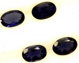 IOLITE FACETED STONE (2 PAIR) 1.4 CTS   PG-1297