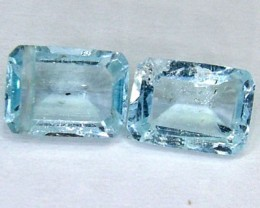 BLUE TOPAZ NATURAL FACETED (2 PC) 2.45 CTS  PG-1007