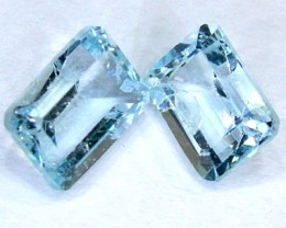 BLUE TOPAZ NATURAL FACETED (2 PC) 3 CTS PG-1009