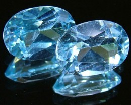 BLUE TOPAZ NATURAL FACETED (PAIR) 1.85 CTS  PG-1173