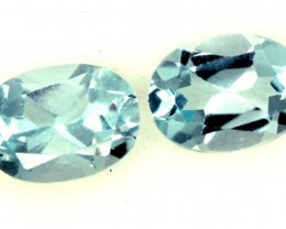 BLUE TOPAZ NATURAL FACETED (PAIR) 2.15 CTS  PG-1194