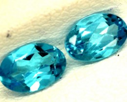 BLUE TOPAZ NATURAL FACETED (PAIR) 1.15 CTS   PG-1134