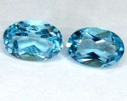BLUE TOPAZ NATURAL FACETED (PAIR) 1.15 CTS  PG-1137