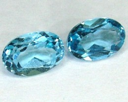 BLUE TOPAZ NATURAL FACETED (PAIR) 1.15 CTS  PG-1136