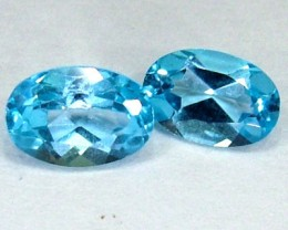 BLUE TOPAZ NATURAL FACETED (PAIR) 1.10 CTS  PG-1135