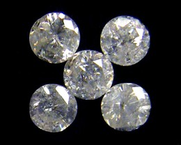 PARCEL 5 WHITE 2 POINTER DIAMONDS 0.226 CARATS OP1437