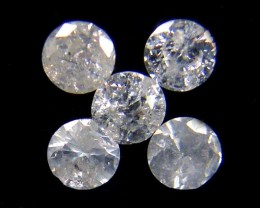 PARCEL 5 WHITE POINTER DIAMONDS 0.21 CARATS OP1438
