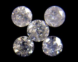 PARCEL 5 WHITE 2 POINTER DIAMONDS 0.197 CARATS OP1443