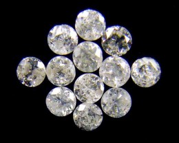 PARCEL 12 WHITE 2 POINTER DIAMONDS 0.404 CARATS OP1462