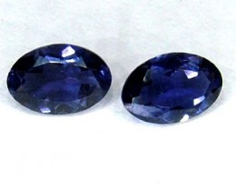 IOLITE FACETED STONE (PAIR) 0.75 CTS  PG-1131