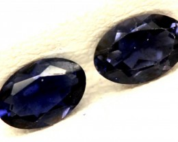IOLITE FACETED STONE (PAIR) 0.55 CTS  PG-1163