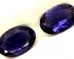 IOLITE FACETED STONE (PAIR) 0.65 CTS  PG-1162
