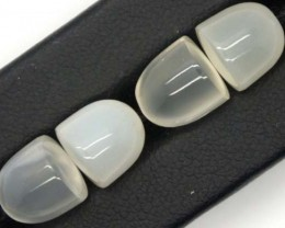 17.2 CTS NATURAL MOONSTONE GEMSTONE (2 PAIR)  CG-1143