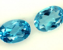 BLUE TOPAZ NATURAL FACETED 2 PCS  1.70  CTS  PG-1270
