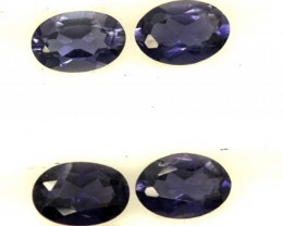 IOLITE FACETED STONE (2 PAIR) 1.50 CTS  PG-1279