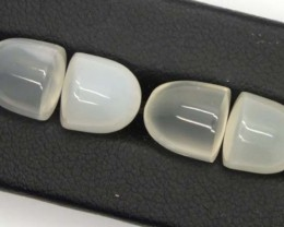 16.9 CTS NATURAL MOONSTONE GEMSTONE (2 PAIR)  CG-1150