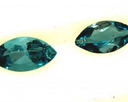 BLUE TOPAZ NATURAL FACETED (2 PC) 1.20 CTS  PG-1282