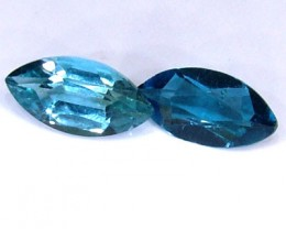BLUE TOPAZ NATURAL FACETED (2 PC) 1.25 CTS  PG-1281